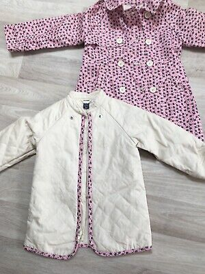 Girls Gap Floral Coat With Detachable Inner Age 3