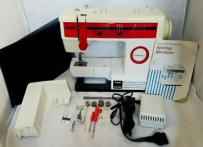 Rare Brother VX-810 Zig Zag Free Arm Sewing Machine w/Cover Foot Pedal & Extras