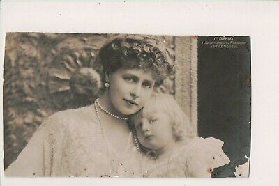 Vintage Postcard Princess Marie of Edinburgh Queen of Romania & Prince Nicholas