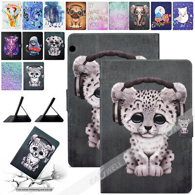 For Huawei MediaPad T5 10 10.1 inch 2018 PU Leather Stand Pattern Cover Case
