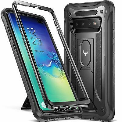 Kickstand Case for Galaxy S10+ Plus, Heavy Duty Protection Full Body Slim Cover