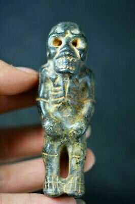 Rare Chinese Hongshan Culture Jade Stone Carved Human Skeleton Statue