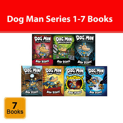Adventures of Dog Man Series 1-7 Books Set by Dav Pilkey For Whom the Ball Rolls