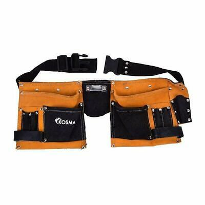 Kosma 11 Pockets Leather Carpenter Tool ApronElectrician Tool PouchDIY Too