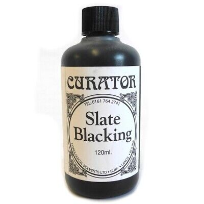 Curator Slate Blacking Solution for Black Marble & Slate Clocks 120ml - HF6026