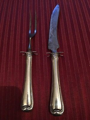 Old French By Gorham Sterling Silver Steak Carving Set 2Pc 9 1/2""