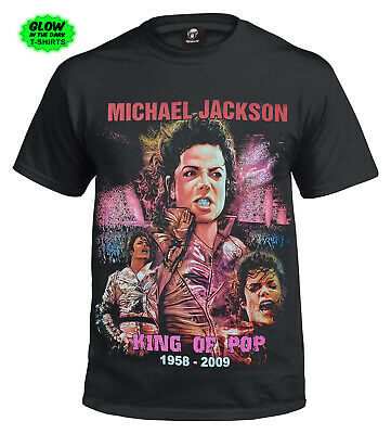 New Unisex Michael Jackson King Of Pop T-Shirt/Legend/Icon/1958-2009/Tshirt/Top