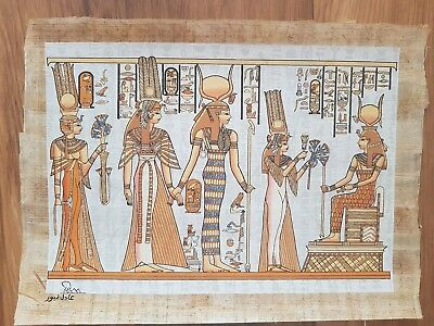 Glow in the Dark Egyptian Papyrus Print - Design 07 - (A3 Size - 43cm X 31cm)