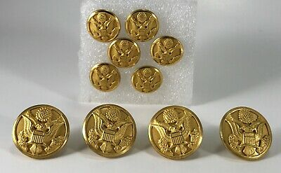 Waterbury Button Co Military Buttons Metal Eagle Gold Tone Conn Vintage Lot 10