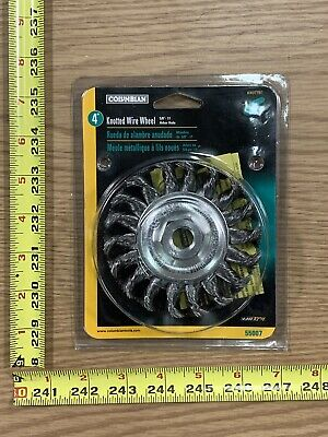 "4"" High Speed Knotted Wire Wheel 5/8"" - 11 Arbor  .020 Columbian Brand 55007"