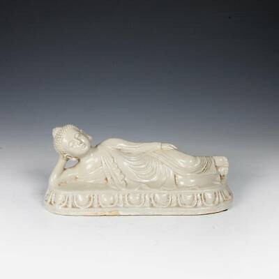 Chinese Ding-Ware Reclining Buddha Entering Nirvana Glazed Ceramic China 19Th C.