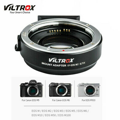 VILTROX EF-EOS M2 Auto Focus Mount Adapter 0.71X for Canon EF Lens to EOS-M DGD