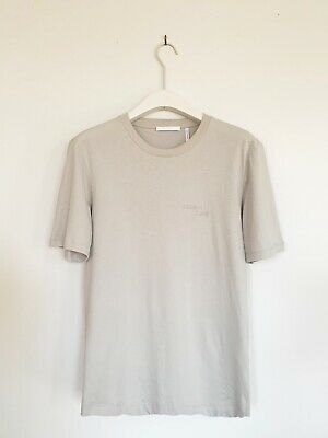 Helmut Lang Mens Light Grey Stacked Tee Size Xs