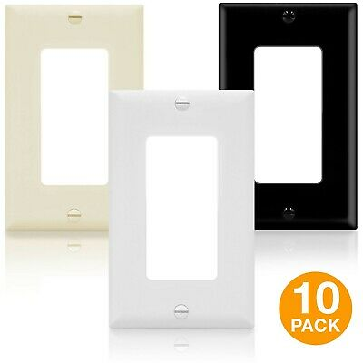 ENERLITES Decorator Light Switch Wall Plate Receptacle Outlet Cover 10 Pack