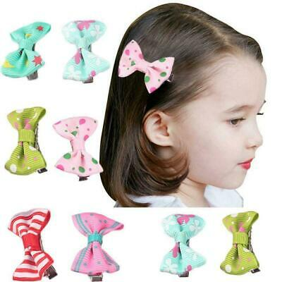 10Pcs Baby Bow Ribbon Hair Bow Mini Latch Clips Hair Hairpins Fashion Clip Z9R5