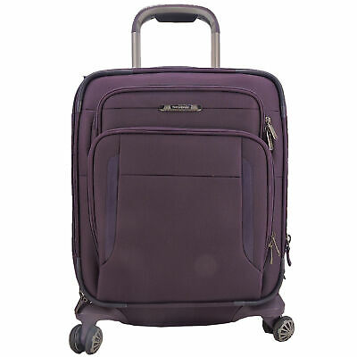 Samsonite Executive 19 Inch Carry-On Spinner Suitcase In Purple