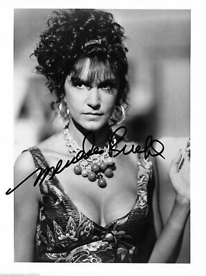 Mercedes Ruehl Autographed Signed 8X10 Low Cut Dress With Beads