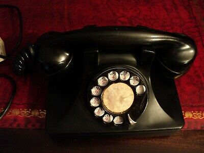 antique vintage bakelite rotary telephone north electric mfg co.