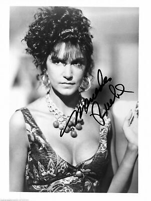 Mercedes Ruehl Autographed Signed 8X10 Low Cut Dress With Large Breasts