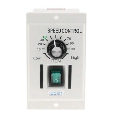 Ac 110V 400W Knob Motor Speed Controller Dc 0-90V Variable Adjust Lathe Control