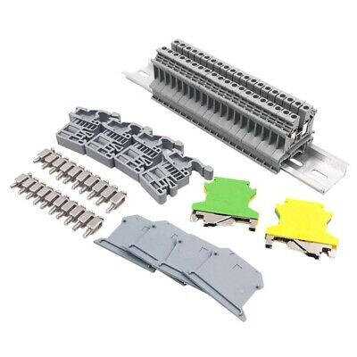 Din Rail Terminal Blocks Kit Uk-2.5N 12 Awg Terminal Blocks Ground Blocks E5W3