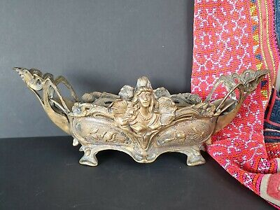 Old Bronze / Brass Condiments Holder / Candle Holder …beautiful accent piece