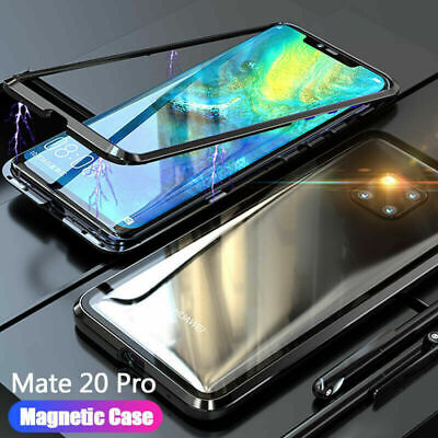 Shockproof Magnetic Adsorption Tempered Glass Case Cover For Huawei Phone Case