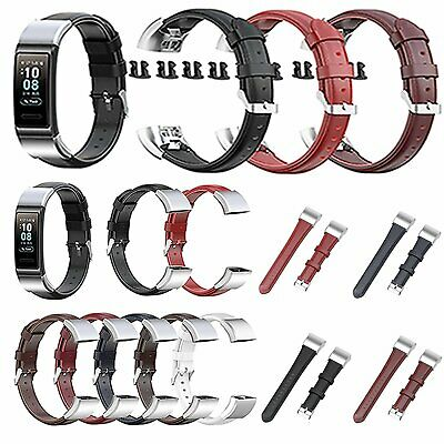Leather Watch Strap Wrist Band for Huawei Band 3 / Band3Pro / TER-B09 /TER-B29