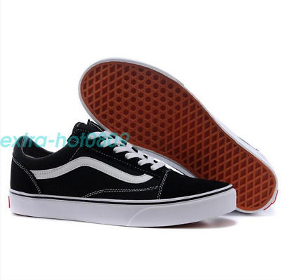 New Van s Old Skool Skate Shoes Classic Canvas Sneaker Black White All Sizes NIB