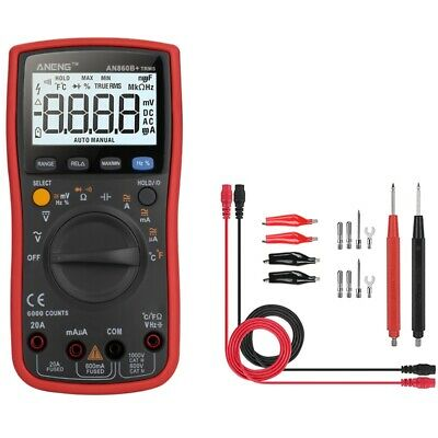 Aneng An860B+Probe Lcd 6000 Counts Digital Multimeter Ac/Dc Current Voltage