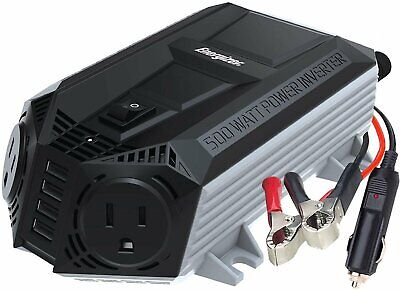 ENERGIZER 500 Watt Power Inverter 12V DC To AC + 4 X 2.4A Charging Ports = 9.6A