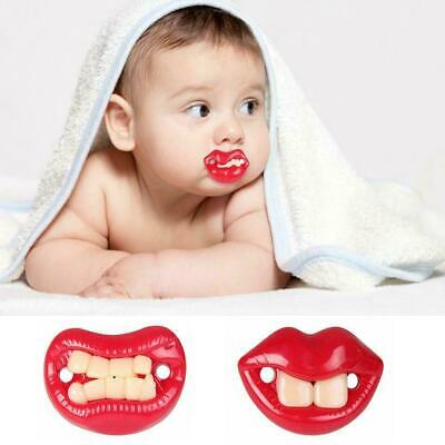 1*Orthodontic Baby Newborn Infant Funny Mustache Pacifier Pacifiers Dummy B M1C5
