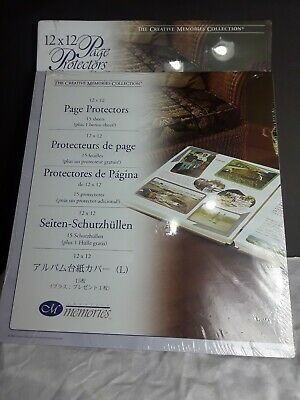 32 Creative Memories Page Protector Scrapbook Album Refill 12x12 Sealed Lot of 2
