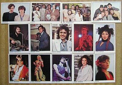 1980  Panini ROCK & POP COLLECTION Trading Cards  x  14