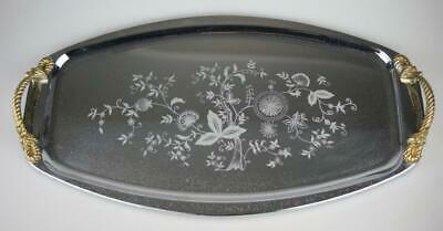 Silver Plated Sandwich Tray or Serving Platter Unbranded Decorative Pattern GG58