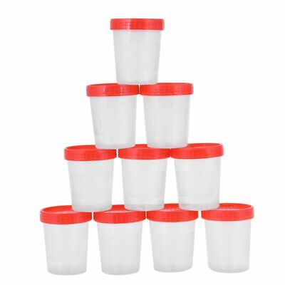 10 pieces urine cup 120 ml + screw cap urine sample cup urine cup plastic c W4X9