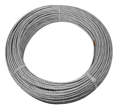 Pinnacle GALVANISED WIRE ROPE 3mmx50m Spool, 278kg Safe Working Load *Aust Brand