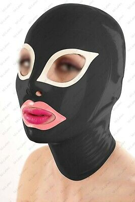 920 Latex Rubber Gummi cat eyes Mask Hood customized catsuit costume 0.4mm cool