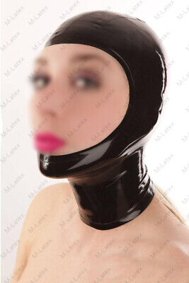 922 Latex Rubber Gummi open face Mask Hood customized catsuit costume 0.7mm sexy