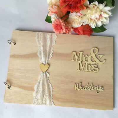 Guest Book Wooden Tree Personalised Guest Book Wood Wedding Decoration Party