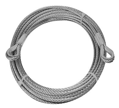 Pinnacle GALVANISED WIRE ROPE WITH LOOPS *Australian Brand- 5mmx12m Or 5mmx30m