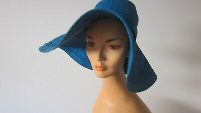 1960,s original vintage lge blue straw from Mr Individual Melb