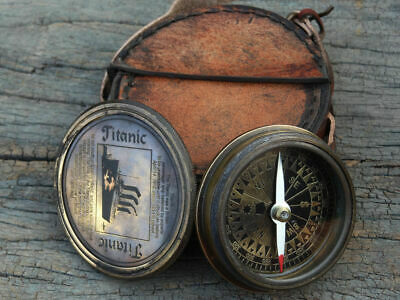 Maritime Beautiful Collectible Nautical Brass Solid Antique Titanic Compass
