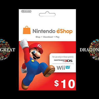 $10 eShop Digital Key - Nintendo $10 USD - Switch/3DS/WiiU - US Gift Card [US]