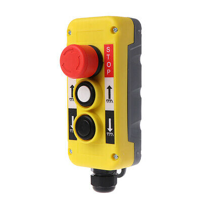 Waterproof Industrial Push Button Switch Emergency Stop for Electric Crane Hoist
