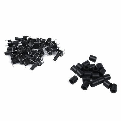 20 Pcs 6x6x12mm 4pin Push Button Micro-Tactile Tact Switch with Cap E8F1