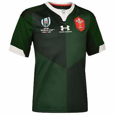 Under Armour Welsh Junior Replica Rugby World Cup Away Shirt 2019 - Green