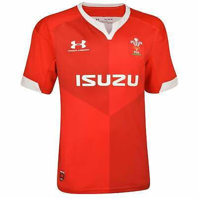 Under Armour Wales Junior Supporter Home Rugby Shirt 2019-2020 - Red