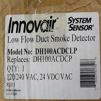 System Sensor DH100ACDCLP Innovair Low Flow Photoelectric AirDuct Smoke Detector