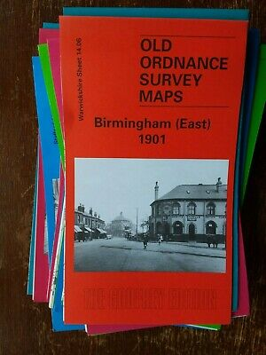 Old Ordnance Survey Map Birmingham East 1901